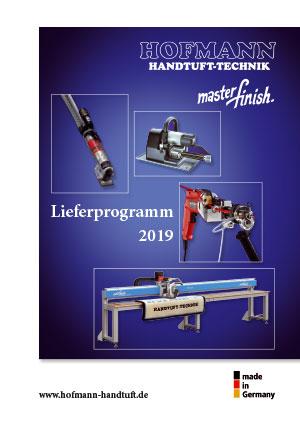 Lieferprogramm 2019 von Hofmann Handtuft